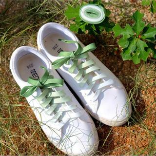 〖激安〗 グラデーション 靴ひも グリーン/GREEN✦キャンディカラー 緑(スニーカー)