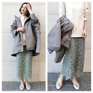 IENA - 【新品タグ付】IENA レースタイトスカート グリーン サイズ36