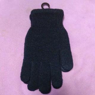ユニクロ(UNIQLO)のユニクロ ヒートテック手袋 ネイビー SM(手袋)