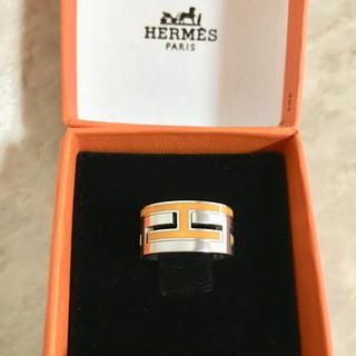 Hermes - 正規品 エルメス 指輪 ムーブアッシュ シルバー オレンジ SV925 リング