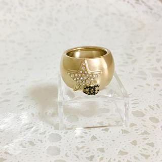 CHANEL - 正規品 シャネル 指輪 スター ラインストーン 金 ココマーク 星 リング 石
