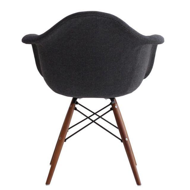 EAMES(イームズ)のイームズ  アームチェア ファブリック ダークグレー インテリア/住まい/日用品の椅子/チェア(ダイニングチェア)の商品写真