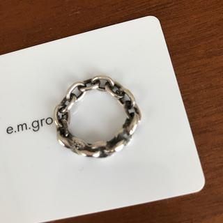 イーエムノアール(e.m. noir)のe.m.noir チェーンリング(リング(指輪))