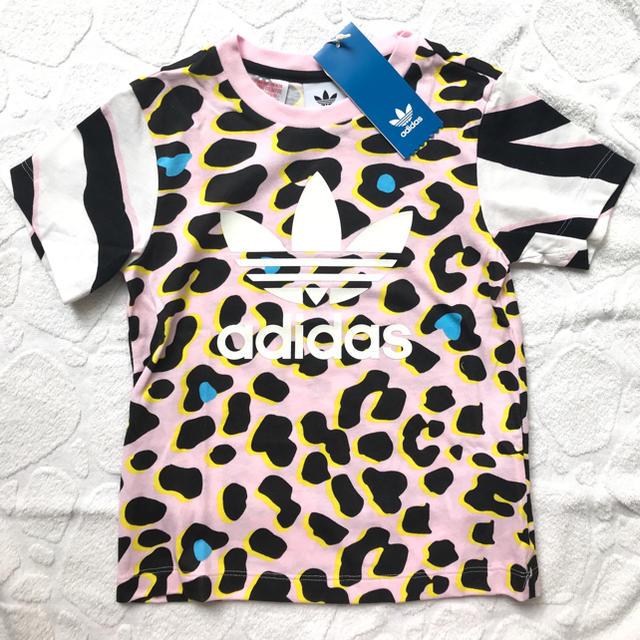 adidas(アディダス)のS&N★様専用【大人気】アディダス オリジナルスのレオパード柄Tシャツ キッズ/ベビー/マタニティのキッズ服女の子用(90cm~)(Tシャツ/カットソー)の商品写真