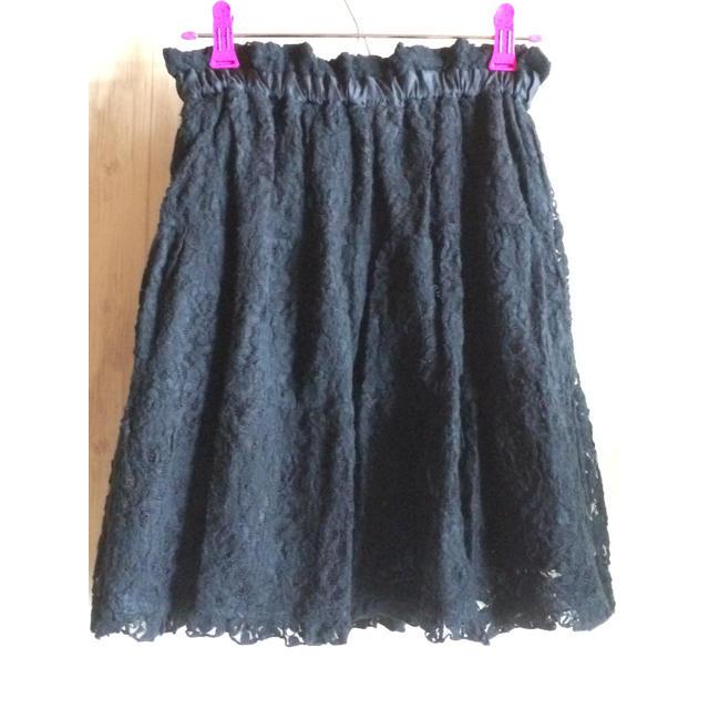 axes femme(アクシーズファム)のリバーシブルスカート axes femme 新品未使用 黒 M  アクシーズ レディースのスカート(ひざ丈スカート)の商品写真
