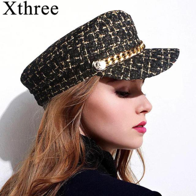 ツイードキャスケット❤ レディースの帽子(キャスケット)の商品写真