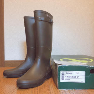エーグル(AIGLE)のAIGLE(エーグル)/レイブーツ BROWN レディース 37(レインブーツ/長靴)
