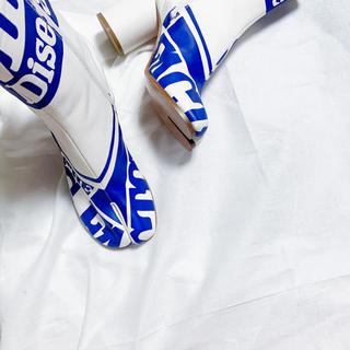 Maison Martin Margiela - メゾンマルジェラ プリント 足袋ブーツ