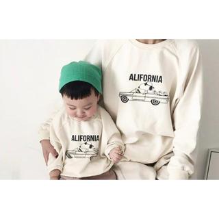 こども ビームス - 韓国子供服 スヌーピー トレーナー 親子 リンクコーデ おそろ 大人 ベビー