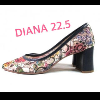 ダイアナ(DIANA)のダイアナ DIANA パンプス 22.5 レース 美USED(ハイヒール/パンプス)