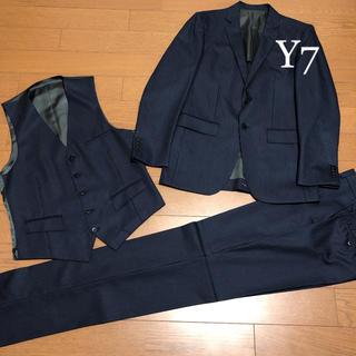 オリヒカ(ORIHICA)の2着目セール【新品サンプル品少々難有】スリーピース スーツ Y7 ネイビー 紺(セットアップ)