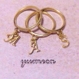 華奢なイニシャルリング💍(リング(指輪))