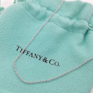 Tiffany & Co. - 希少 ティファニー ホワイト ゴールド ネックレス チェーン AZ36