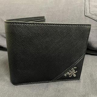 プラダ(PRADA)のPRADA 二つ折り 財布 黒(折り財布)