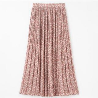 しまむら - しまむら プチプラのあや ハミングローブ 小花柄シフォンスカート Lサイズ