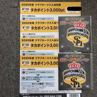 フクオカソフトバンクホークス(福岡ソフトバンクホークス)の福岡ソフトバンクホークス タカポイント  6000ポイント(応援グッズ)