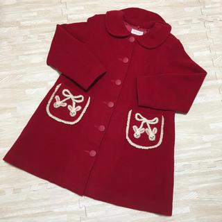 Shirley Temple - シャーリーテンプル コート アウター うさぎ 立体 さくらんぼ レッド 130