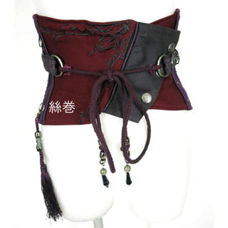 OZZON - OZZ ONESTE オッズオネスト 刺繍 編み上げ コルセット