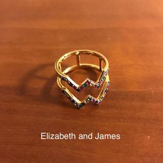 ドゥーズィエムクラス(DEUXIEME CLASSE)のElizabeth and James マルチカラーサファイアリング(リング(指輪))