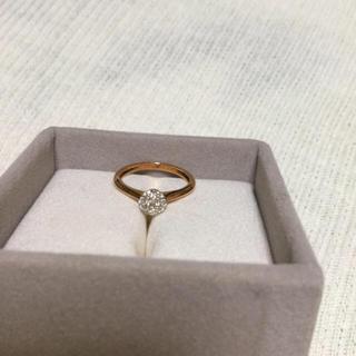 k18 ダイヤ お花 フラワー(リング(指輪))