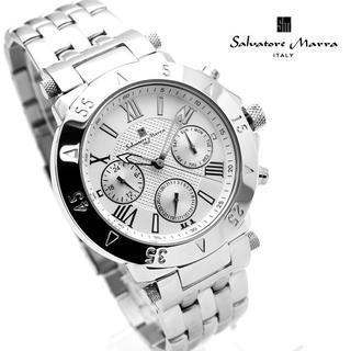 Salvatore Marra - サルバトーレマーラ 腕時計 メンズ ホワイト シルバー デイデイト
