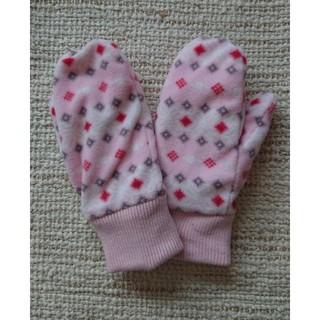 ユニクロ(UNIQLO)のM/L未使用【ユニクロ】裏ボアフリースミトン手袋 ピンク(手袋)