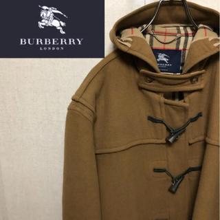 BURBERRY - 【激レア】バーバリーロンドン☆イングランド製ブラウンノバチェックダッフルコート