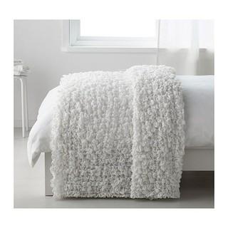 IKEA - IKEA OFELIA 毛布  オフェーリア ホワイト  タオルケット