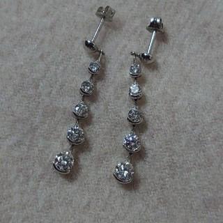 PonteVecchio - PT900 上質ダイヤモンド1.4カラットピアス ロングピアス