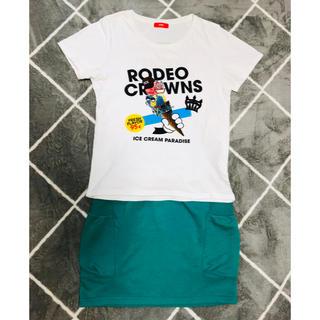 ロデオクラウンズ(RODEO CROWNS)のRCWB コーデ セット Tシャツ+スウェットスカート(Tシャツ(半袖/袖なし))