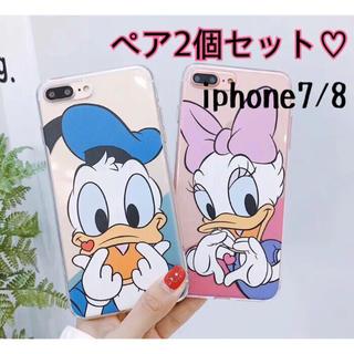 ♡ドナルド&デイジーペア iPhone7/8対応♡◡̈⃝⋆*