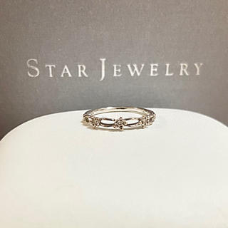 STAR JEWELRY - スタージュエリー  k18 ダイヤモンド クラフテッド リング
