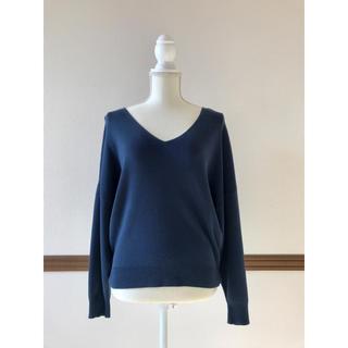 IENA SLOBE - IENA SLOBE Vネックニット ゆったり コットン100% 春服 セーター