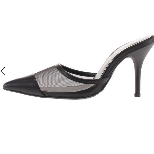 GYDA(ジェイダ)の新品GYDAシースルーミュール。 レディースの靴/シューズ(ミュール)の商品写真