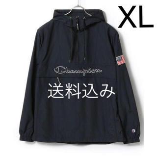 チャンピオン(Champion)の【XL】CHAMPION チャンピオン アノラック プルオーバー ブラック(ナイロンジャケット)