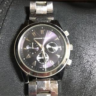 キャサリンハムネット(KATHARINE HAMNETT)の週末価格メンズ腕時計 キャサリンハムネット パープル(腕時計(アナログ))
