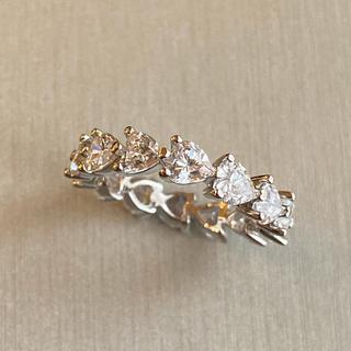 ドゥロワー(Drawer)の最高級 人工ダイヤモンド ハートフルエタニティ 9号(リング(指輪))