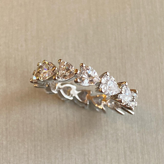 Drawer - 最高級 人工ダイヤモンド ハートフルエタニティ 9号