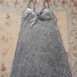 ベロア銀のロングドレス(ロングドレス)