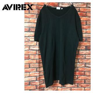 アヴィレックス(AVIREX)のAVIREX MINI WAFFLE Tシャツ ブラック(Tシャツ/カットソー(半袖/袖なし))