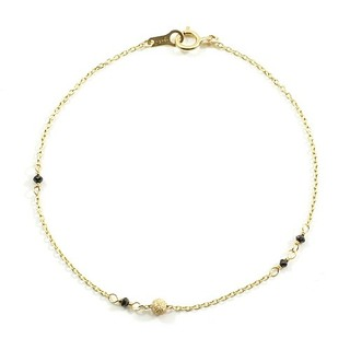 アガット(agete)のアガット K10 ブラックダイヤモンド ブレスレット(ブレスレット/バングル)