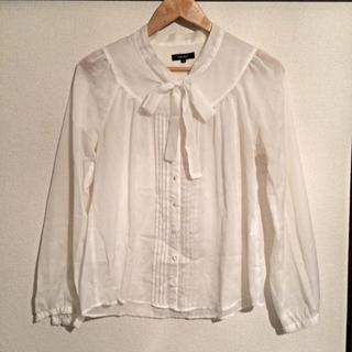 ドレスキップ(DRESKIP)のシャツ/白 ホワイト(シャツ/ブラウス(長袖/七分))