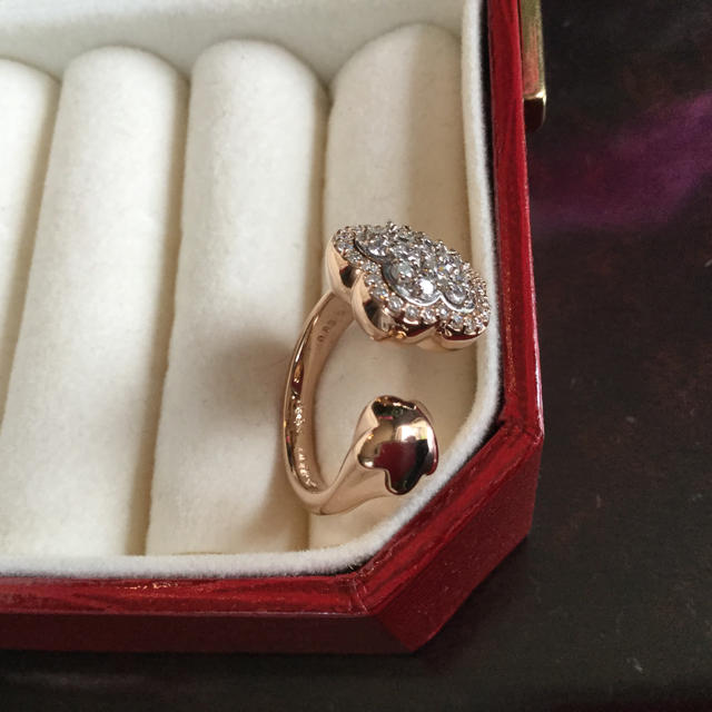 PonteVecchio(ポンテヴェキオ)のポンテヴッキオ お花の指輪 k18 PG ダイヤモンド 12 レディースのアクセサリー(リング(指輪))の商品写真