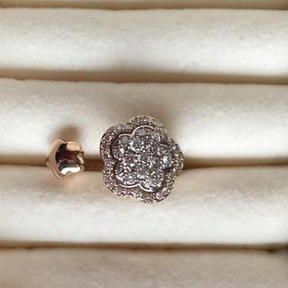 PonteVecchio - ポンテヴッキオ お花の指輪 k18 PG ダイヤモンド 12