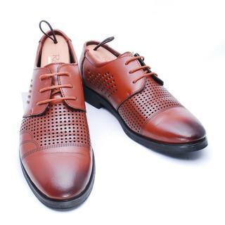 リーガル(REGAL)の【Jinping】25.5cm 茶 ビジネスシューズ ストレート 革靴(ドレス/ビジネス)