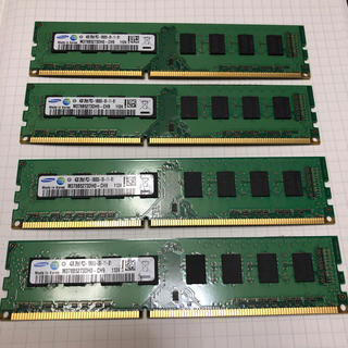サムスン(SAMSUNG)の即購入可 メモリ 4GB×4枚(PCパーツ)