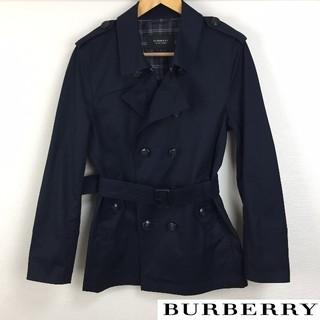 バーバリーブラックレーベル(BURBERRY BLACK LABEL)の美品 BURBERRY BLACK LABEL トレンチコート ネイビー(トレンチコート)