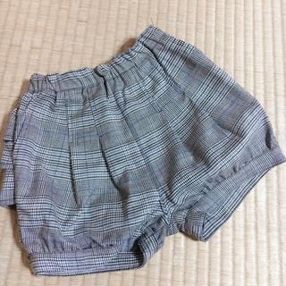 petit main - 【未使用】プティマイン チェックかぼちゃパンツ ショートパンツ キュロット 90