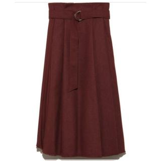 ミラオーウェン(Mila Owen)の新品タグ付きミラオーウェンレイヤード風プリーツスカート(ロングスカート)