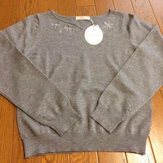 リランドチュール(Rirandture)の新品 PATTERN fiona ハートネック刺繍 アンジェリーナプルオーバー(ニット/セーター)